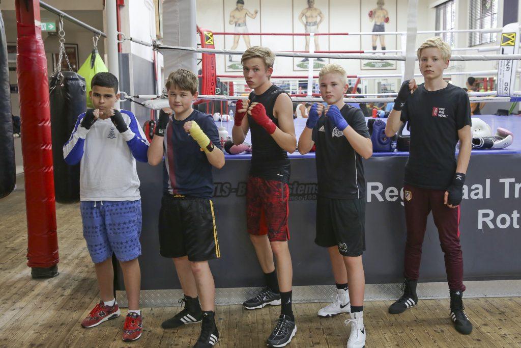 23-5-2018, rotterdam, jeugdboksers van boksschool van het hof foto rob kamminga